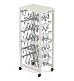 Kitchen trolley 6 baskets 258