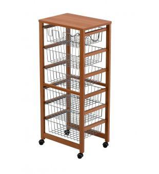 Kitchen trolley 6 baskets 8486