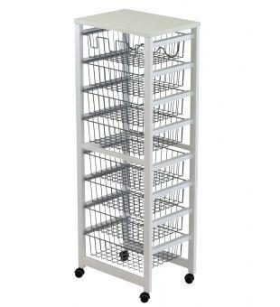 Kitchen trolley 8 baskets 258