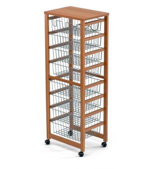 Kitchen trolley 8 baskets 8486